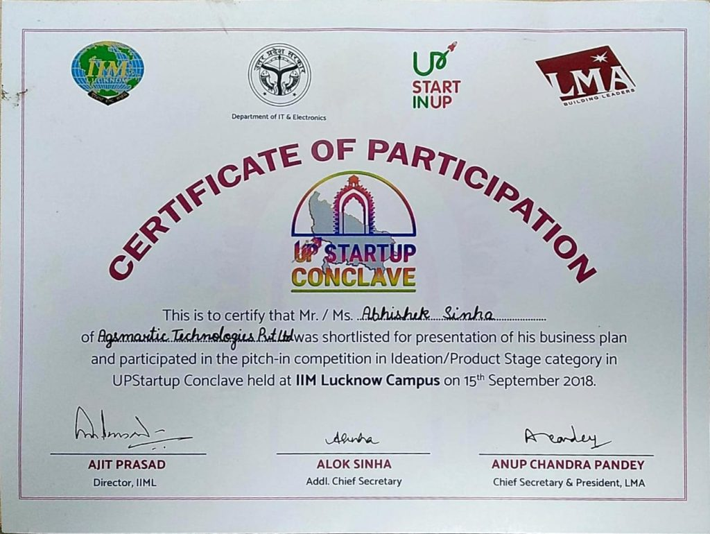 UP Conclave Certificate